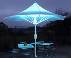 Parasol Jumbrella Wave - Bahama - LED RGB - ø4m -02