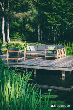 Mobilier de Terrasse_Apple Bee_LaCroix_Lounge_SVLK Teak Natur