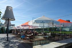Parasol Bahama Event - Parasol professionnel - Rond ø2,5m Event - lambrequin - Marquage - Restaurant