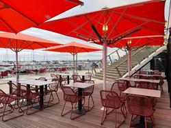Parasol Bahama - Easy - 2,5x2,5m - Restaurant -,Le Victoria - O grands Bains