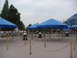 Parasol Bahama - parasol professionnel - Rond ø2,5m Event - lambrequin - événementiel