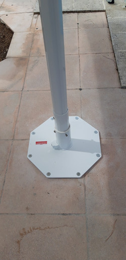 Fixation Parasol - Plaque Octogonale - dalle béton - Parasol Jumbrella Bahama