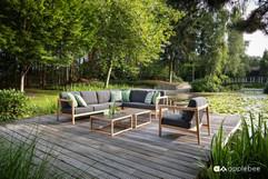 Salon de Jardin_Apple Bee_LaCroix_Lounge_SVLK Teak Natur_O Grands Bains