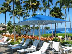 Parasols Géants Jumbrella - carré 4x4m - Bahama - Plage de Piscine - Hôtel
