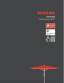 brochure prix  - parasol géant - Jumbre
