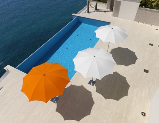 Parasol - plage - piscine - Narcisse Crema ø 200cm - ø 220cm - ø 240cm