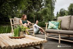 Mobilier de Terrasse Bois_Apple Bee_Rooty_Lounge_Teak SVLK_Natural_O Grands Bains