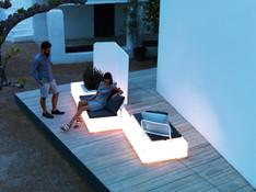 Collection vondom - salon de jardin - canapé design - terrasse - banquette lumineuse
