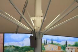 Éclairage - Parasol Géant - Led blanc chaud - Batterie - Bistrot du Paradou