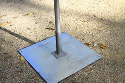 Parasol Bahama Easy - fixation mobile - plaque fine 750x750x8mm