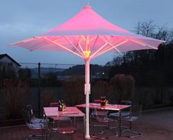 Parasol Jumbrella Wave - Bahama - LED RGB - ø4m