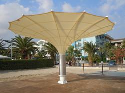 Parasol Géant Largo - Parasols Ronds ø 10,5m - parasol Tulipe - Bahama