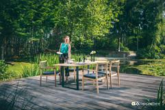 Mobilier de Terrasse_Apple Bee_LaCroix_Dining_Teak SVLK Natur_O Grands Bains