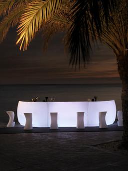 Comptoir Bar Vondom - Fiesta - Eclairage - LED BLANC BATTERIE - 2
