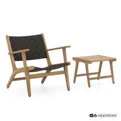 Mobilier de terrasse Bois_Apple Bee_Luc_LC Lowback_Sidetable_Charc