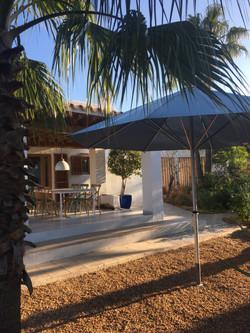 Parasol Bahama Easy - fixation par ancrage - Parasol Rond  ø3,5m - Hôtel