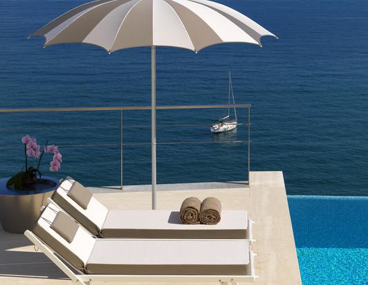 Parasol Narcisse - Crema - Parasol piscine - O Grands Bains