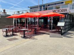 Parasol Mobile Easy - 2,5x2,5m - Restaurant -,Le Victoria - O grands Bains