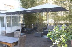 Parasol Bahama Easy - 3x3m - Fixation Mobile - Mobilier de terrasse - Parasol Bahama Easy - 3x3m - F