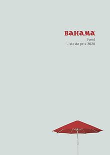 Parasol Event - Bahama - Liste de prix 2