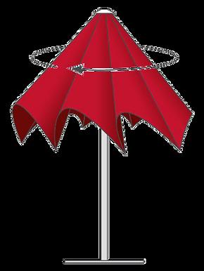 Fermture - Parasol Jumbrella Bahama