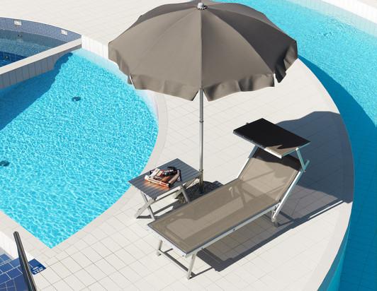 Parasol Poséidon - Crema - Plage piscine