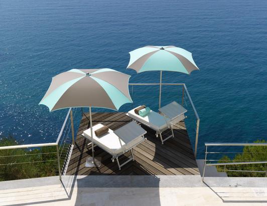 Parasol carré - Zefiro Crema -Design - 180x180cm - 200x200cm