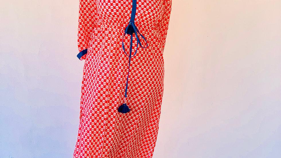 Kaftan -Sommerkleid aus Baumwolle S,M,L,XL