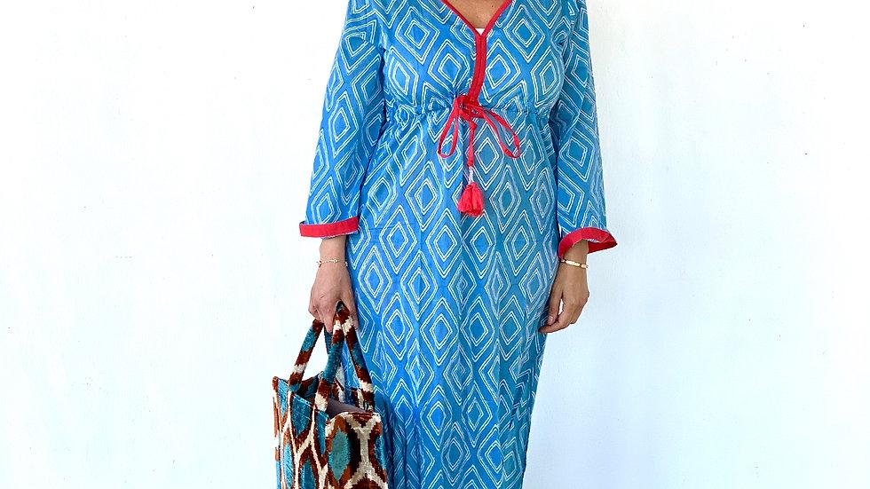 Kaftan - Sommerkleid aus  Baumwolle , S,M,L,XL