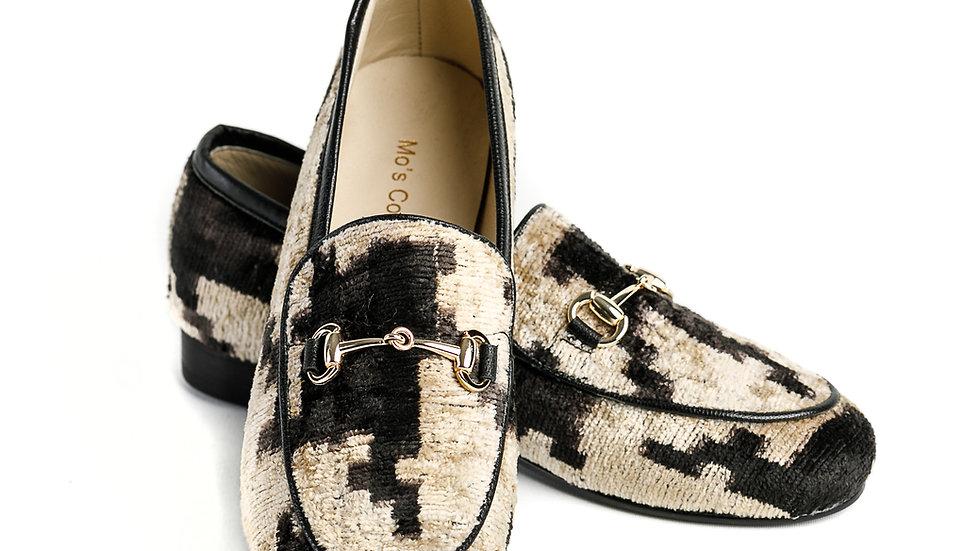 Loafer aus Samt/Seiden-Stoff