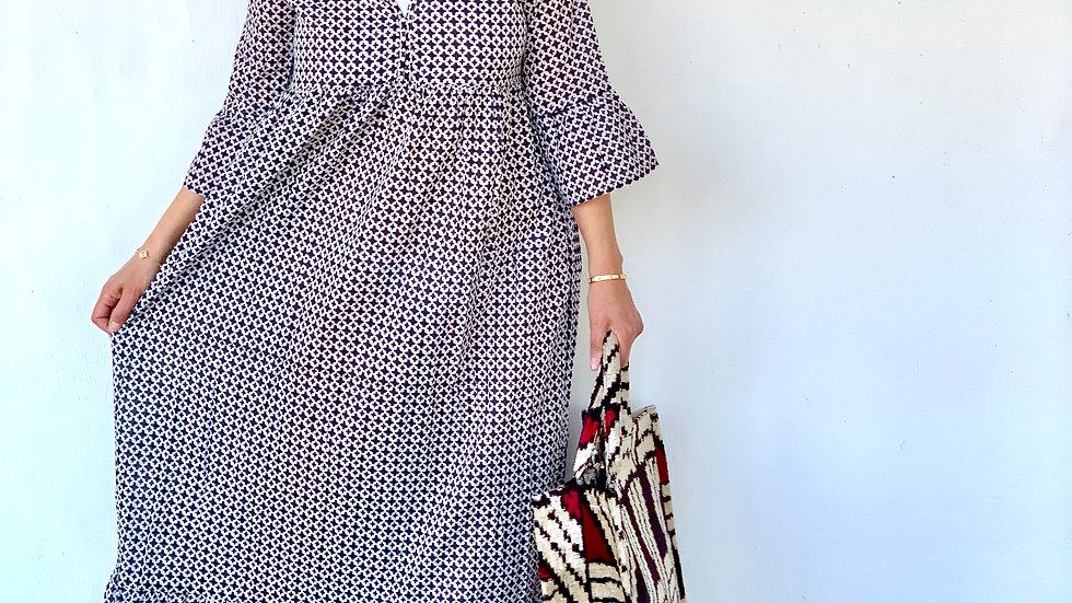 Sommerkleid bodenlang aus Baumwolle