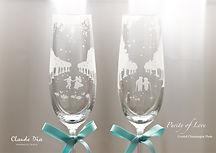 水晶香檳杯, 結婚禮物