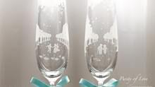 Purity of Love 玻璃及水晶香檳杯推出了!