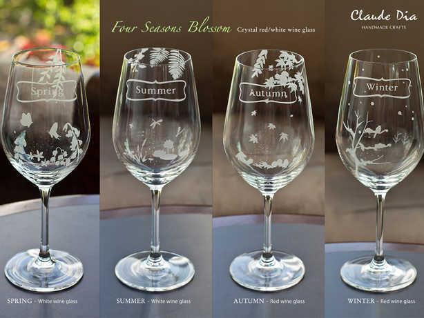 Four Seasons 水晶紅、白酒杯