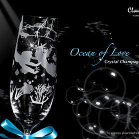 Ocean of Love 水晶香檳杯 ~售罄~