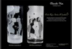 情人節禮物, Valentine's Day,刻字杯, 磨砂, 記念杯, first kiss crystal long drink glass, 刻名, 客製化