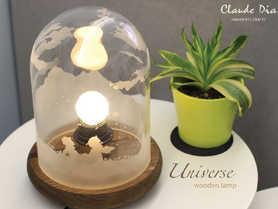 Universe 木座玻璃燈
