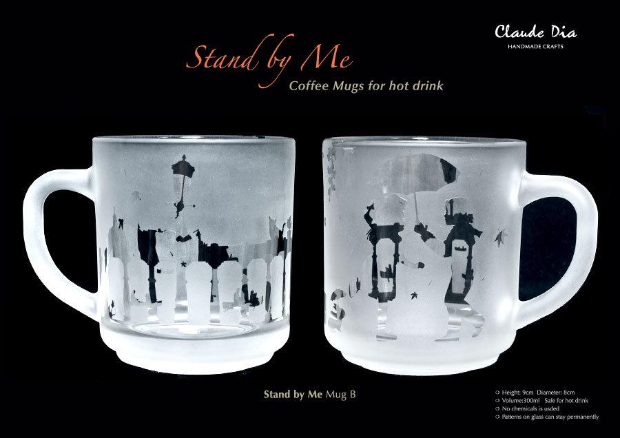 情人節禮物, Valentine's Day, stand by me, 情人節送咩, 情人節, 情人節禮物, 聖誕禮物, 表達愛意, 女仔鐘意, gift, coffee mug, 設計, 創意, 客製化, 刻名, 刻字, 刻字杯,磨砂杯