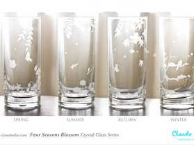 Four Seasons Blossom水晶直身杯 ~售罄~