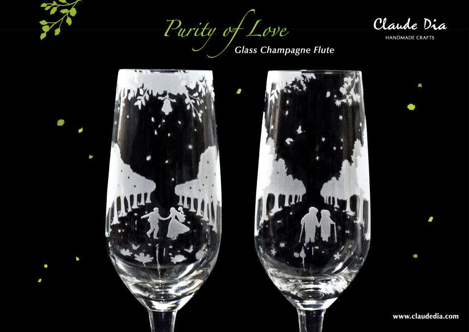 玻璃杯, 玻璃精品,退休禮物推薦, Purity of Love, Champagne Flute, Romantic, Anniversary gift, 特別, 心意, DIY, sandblasting, 情人節禮物, Valentine's Day, 結緍禮物, 水晶香檳杯, 香檳杯, 玻璃杯, gift, wedding, 刻字杯,送比女朋友,金婚, 情人節禮物, 刻字杯, 刻字, 刻名杯, 客製化, 浪漫, 送禮佳品, 結婚禮物, 香檳杯, 水晶玻璃, 高級, 玻璃杯, 磨砂杯, 結婚