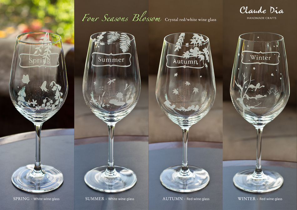 Four Seasons Blossom 水晶紅/白酒杯