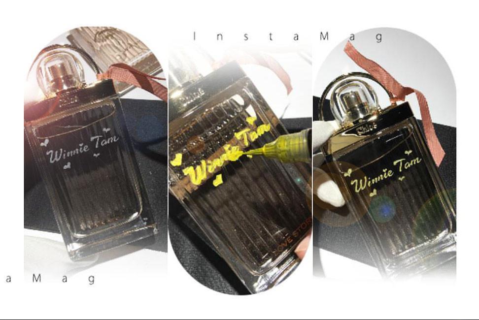 活動現場雕刻, 雕刻名字, hand engraving, perfume hand engraving, handengraving, 人手刻字, 香水人手刻字 , 刻字定製個人專屬香氛, 香水刻字, Chloe香氛刻字