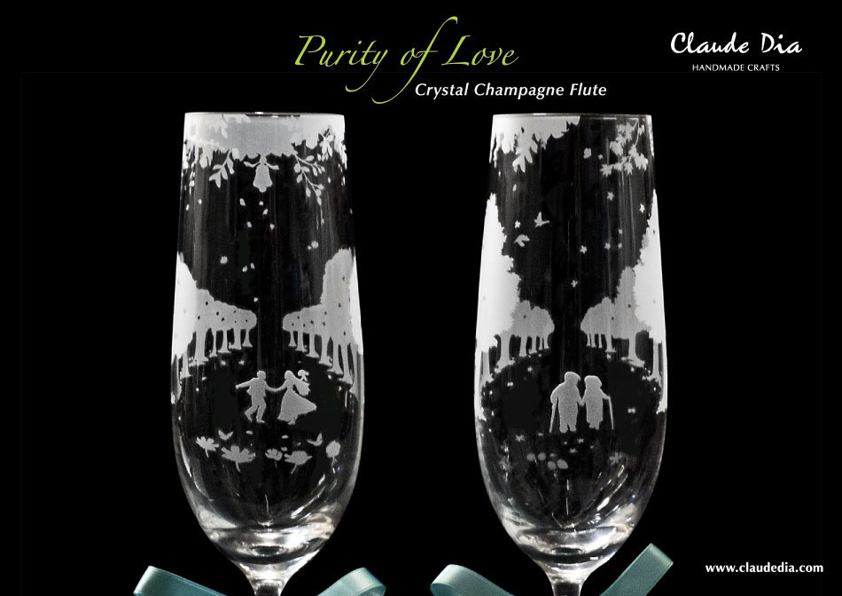 情人節禮物, Valentine's Day, Purity of Love, Love, 玻璃杯, 玻璃精品, Crystal Chapmagne Flutes, Romantic, Anniversary gift, 特別, 心意, DIY, gift, wedding, 刻字杯, 客製杯, 刻字, 金婚,  精品, 刻名, 情人節禮物, 送禮, 手工製 週年禮物, 噴砂