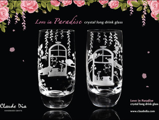 Love in Paradise crystal glass is released!