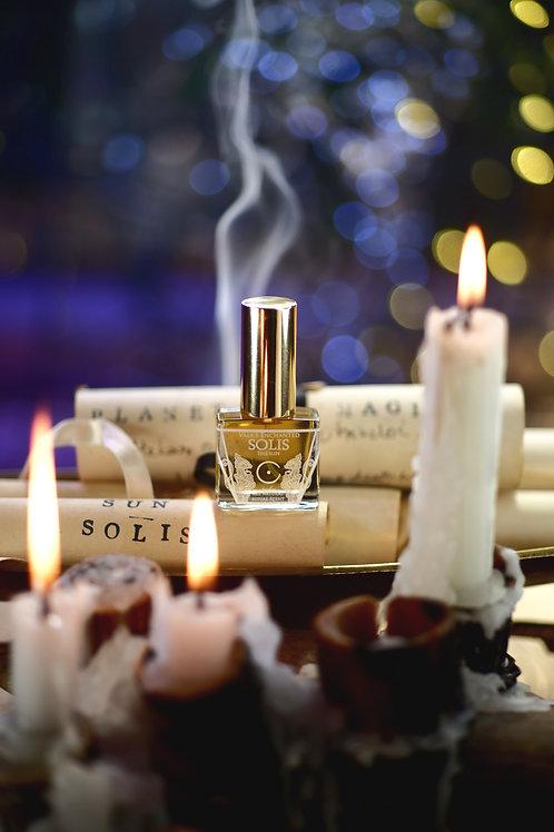 SOLIS • Warm, sweet scent of cedar, benzoin, frangipani, saffron
