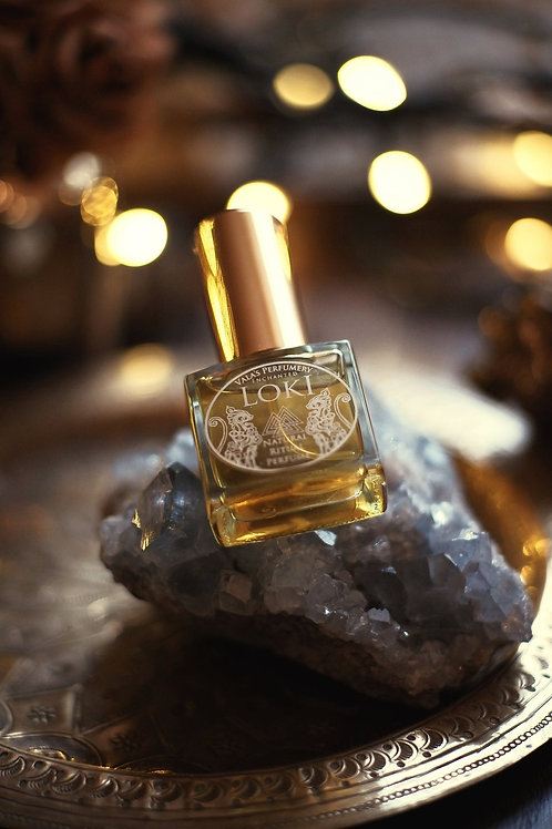 Loki • Citrus with woods and dark base of cumin and beeswax