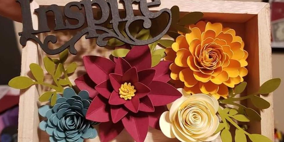 Paper Flower Workshop - Shadow Box