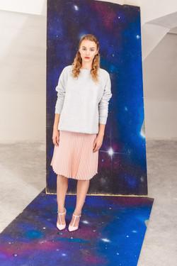 hedvábná plisovaná sukně