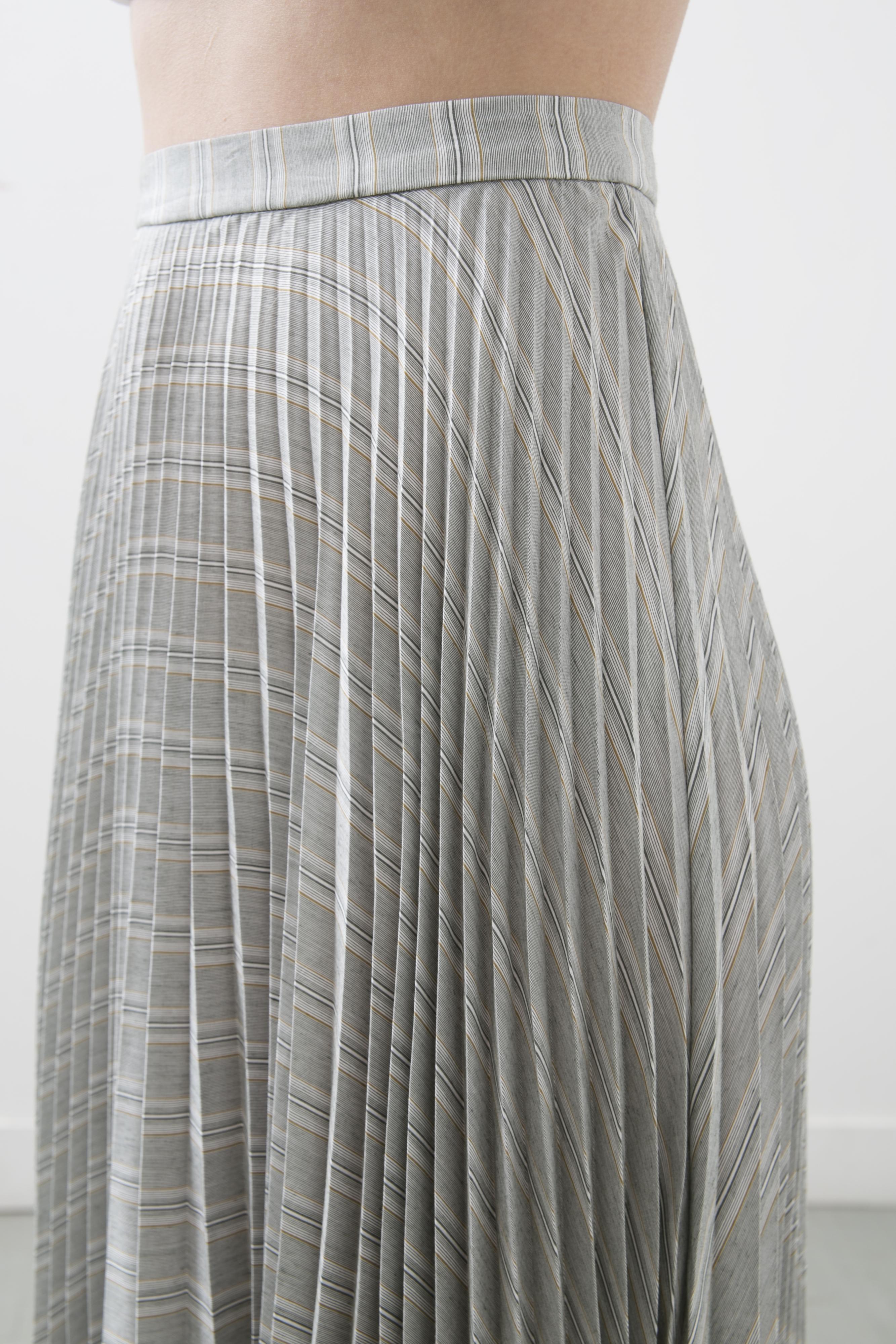 Plisovaná sukně - detail
