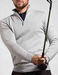 Zip neck golfing sweater